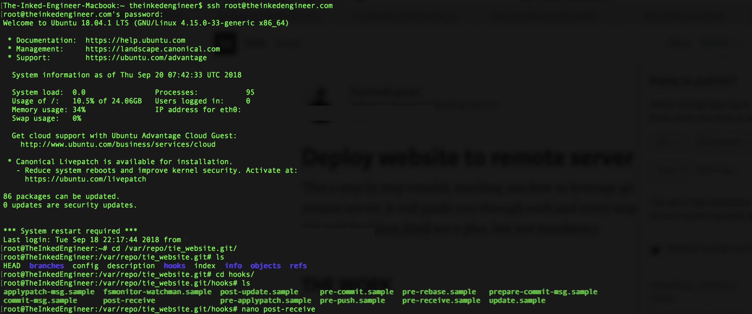 /deploy-website-to-remote-server-using-git-da6048805637 feature image