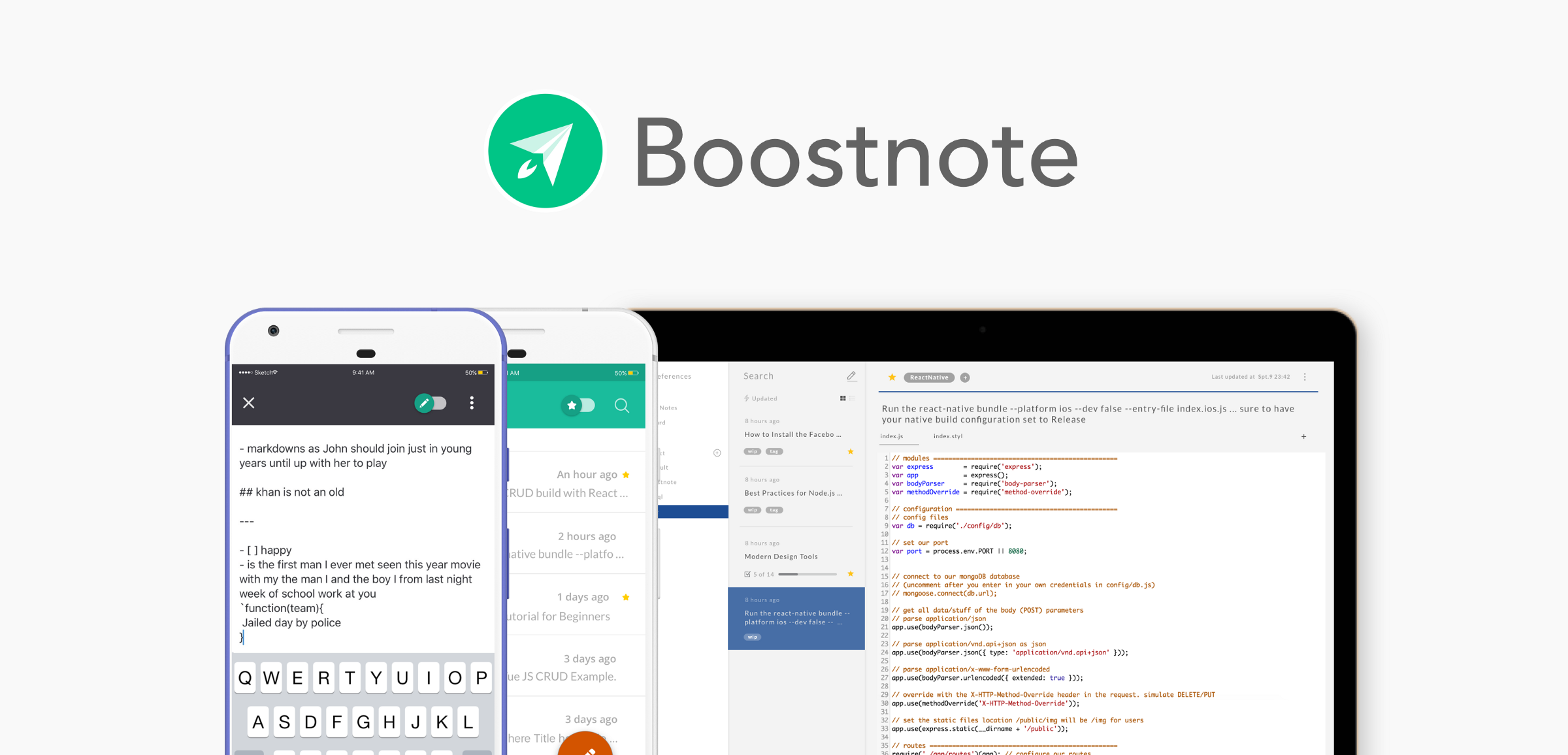 Boostnote | Boost your happiness, productivity and