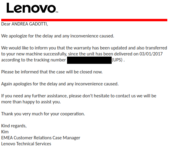 Lenovo's warranty upgrade is a SCAM - By