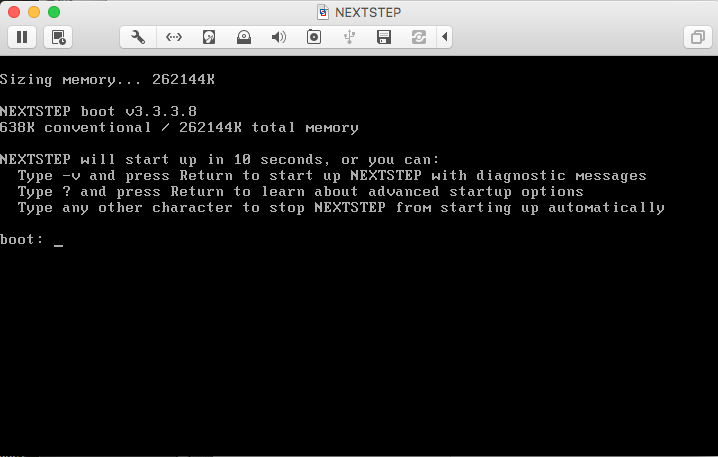 Installing NeXTSTEP on VMWare Fusion - By Joseph D  Marhee
