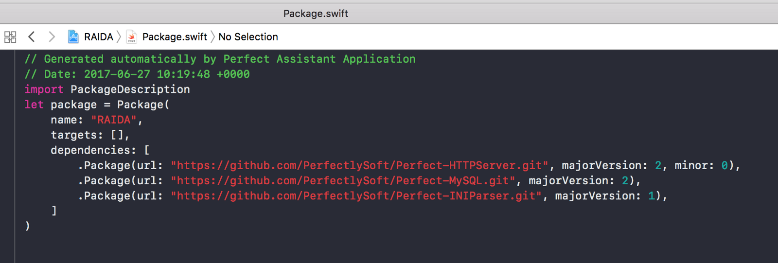 Migrating Perfect project to Swift 4 - By