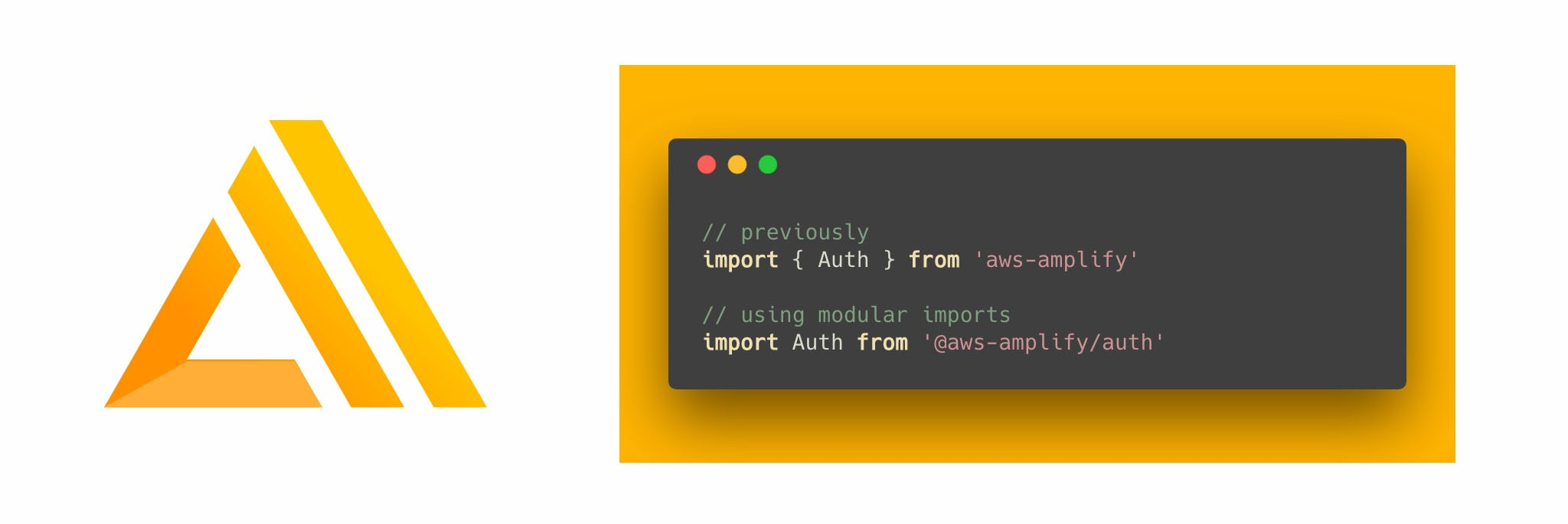 Modular imports with AWS Amplify - By