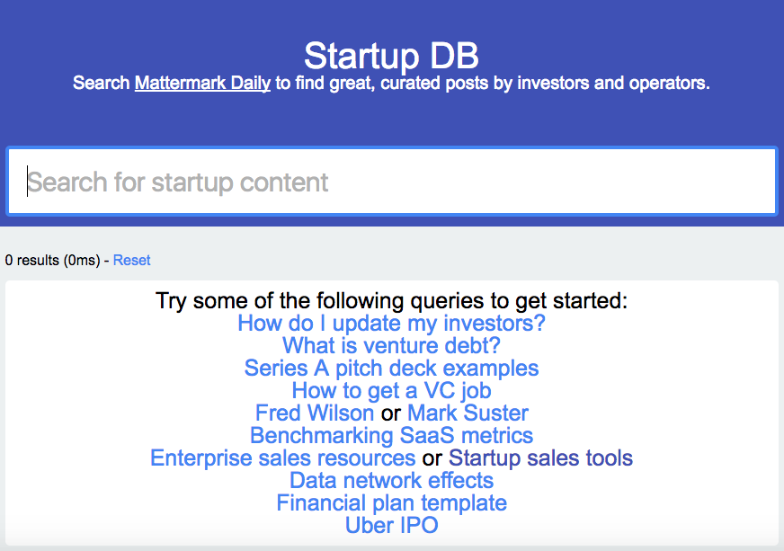 /startup-db-search-for-relevant-curated-posts-by-entrepreneurs-investors-307f947aa50 feature image
