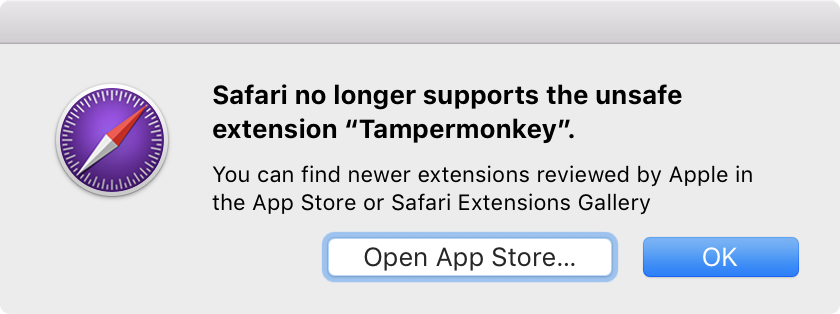 How to bypass Safari 12 'unsafe extension' warning - By