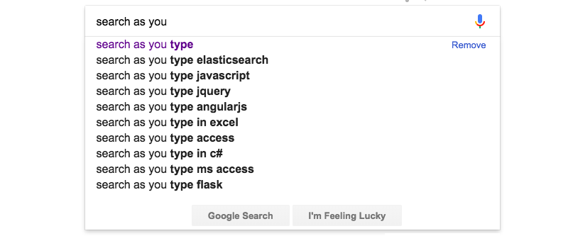 Elasticsearch: Building AutoComplete functionality - By