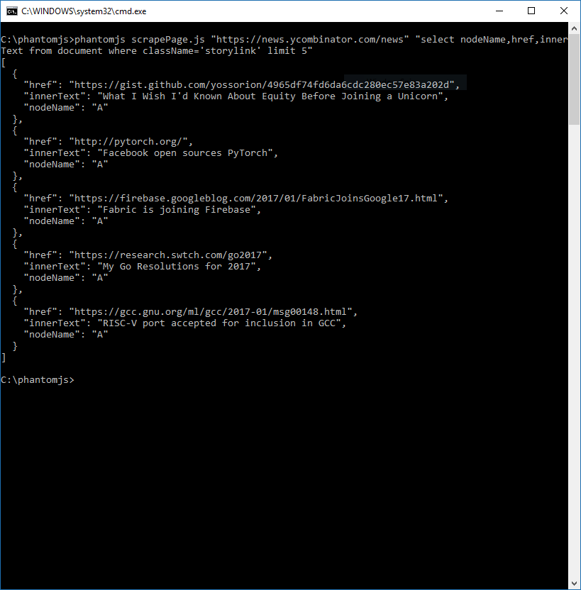 Scrape any Website/Service/API with a single SQL Select