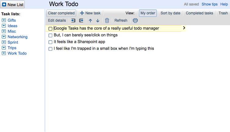 How Google Tasks could win the Todo List market - By