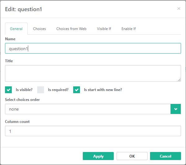 SurveyJS: Improved Form Builder Usability (first half of