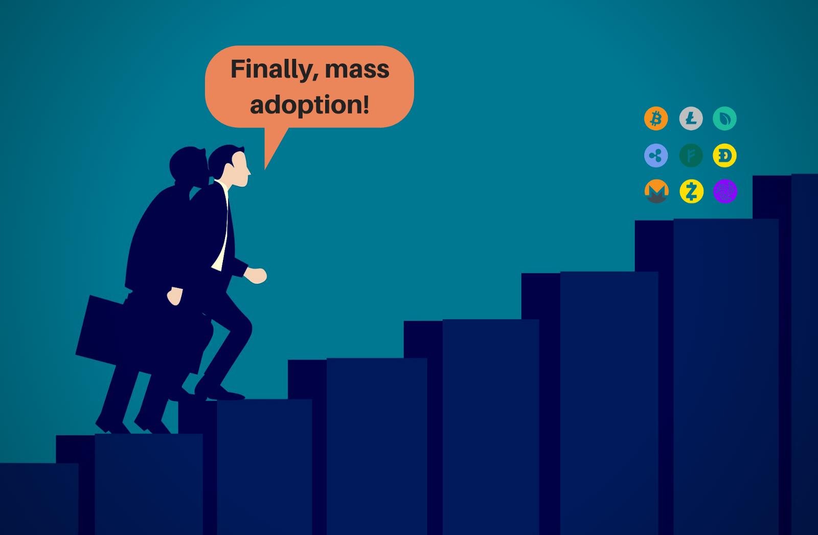 /the-4-steps-to-attain-blockchain-mass-adoption-cc3627c159f2 feature image