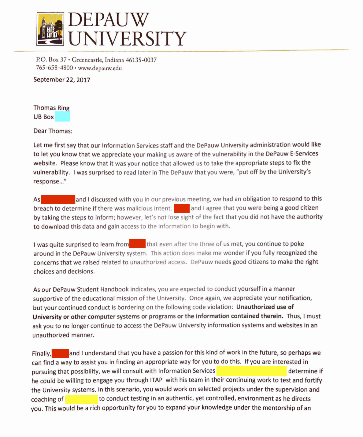 How I Hacked DePauw University Using Hidden Inputs - By