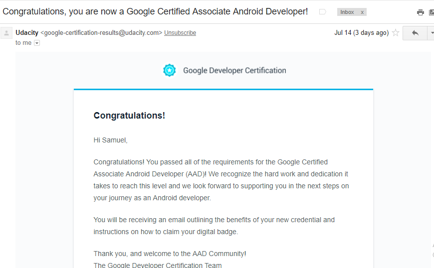 Lessons learned from passing the Associate Android Developer(AAD