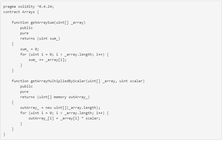 Arrays in Solidity - By