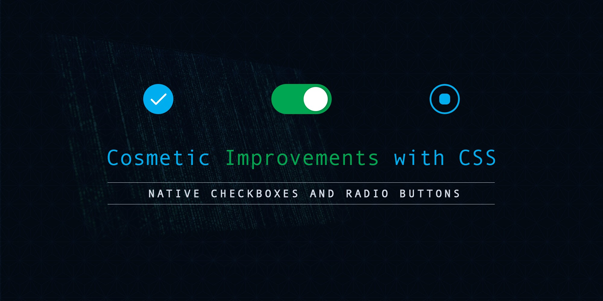 Hacking Custom Checkboxes And Radios - By Glad Chinda