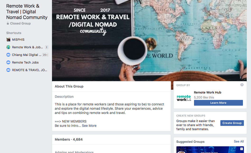 10 Facebook Groups you can join for free to find your next remote