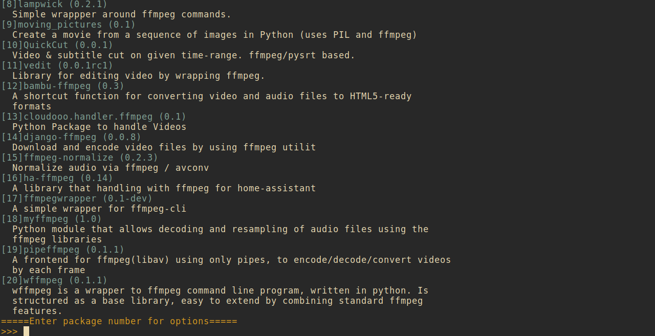 Improving and extending the search functionality of Python's pip - By