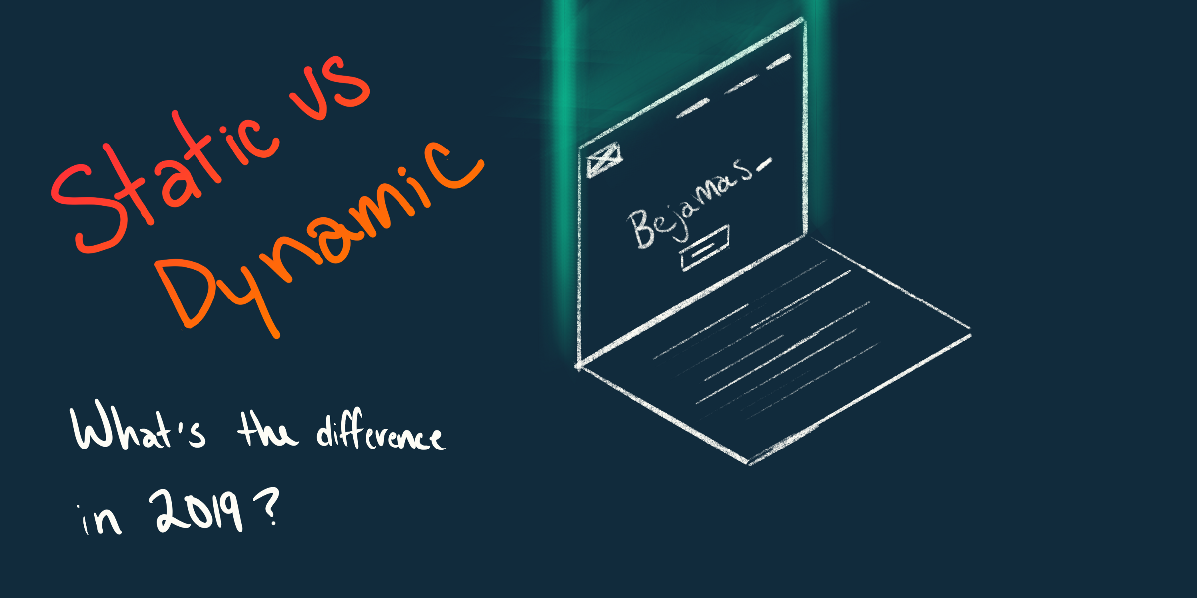 /static-vs-dynamic-website-whats-the-difference-in-2019-327064bfd4a9 feature image