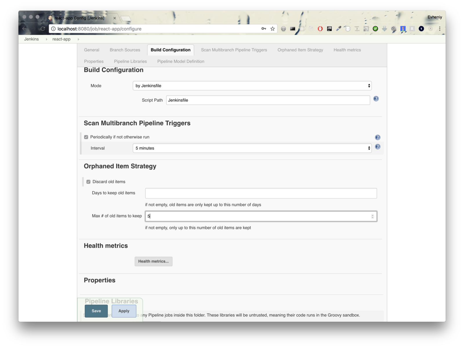 Continuous delivery of react app with Jenkins and Docker - By