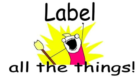 Grab a pen, write down the labels