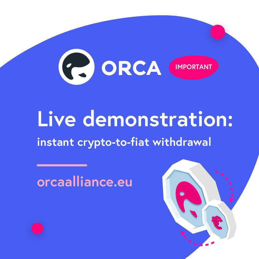 /orca-live-on-june-11th-withdrawal-from-crypto-to-euro-account-in-under-1-minute-132a6244922c feature image