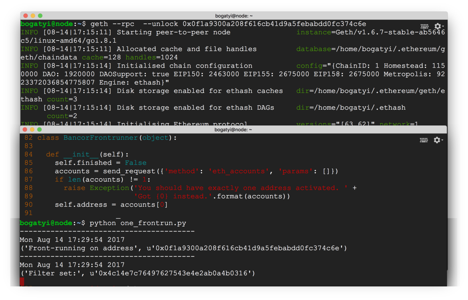 /front-running-bancor-in-150-lines-of-python-with-ethereum-api-d5e2bfd0d798 feature image