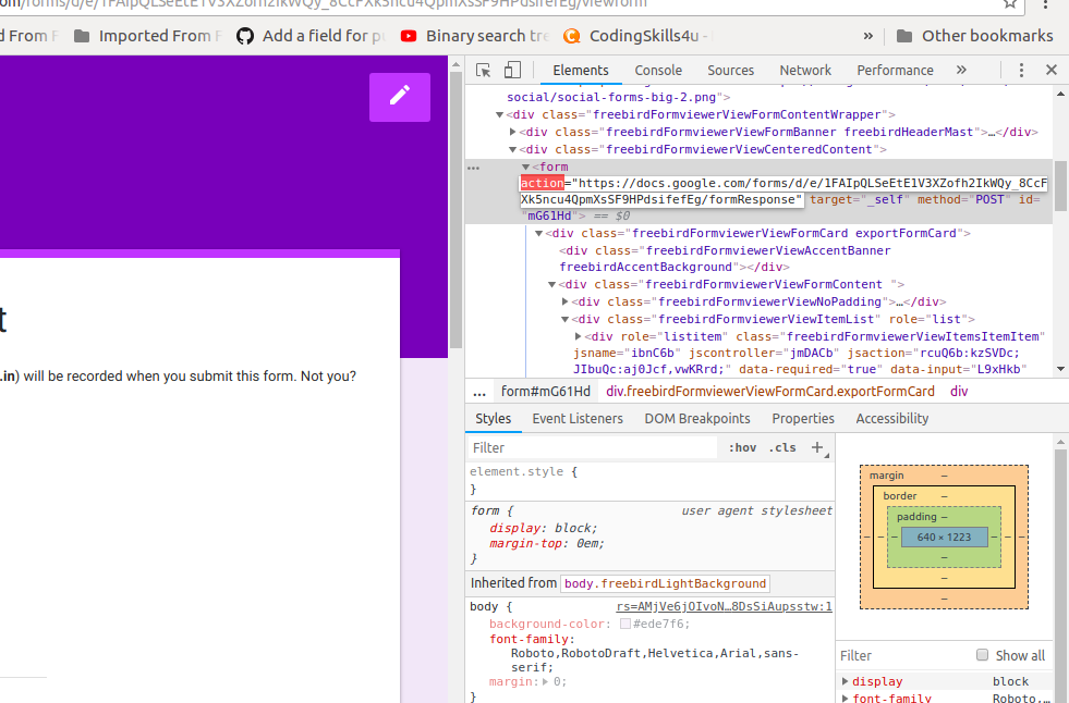 Create websites using Google Forms - By