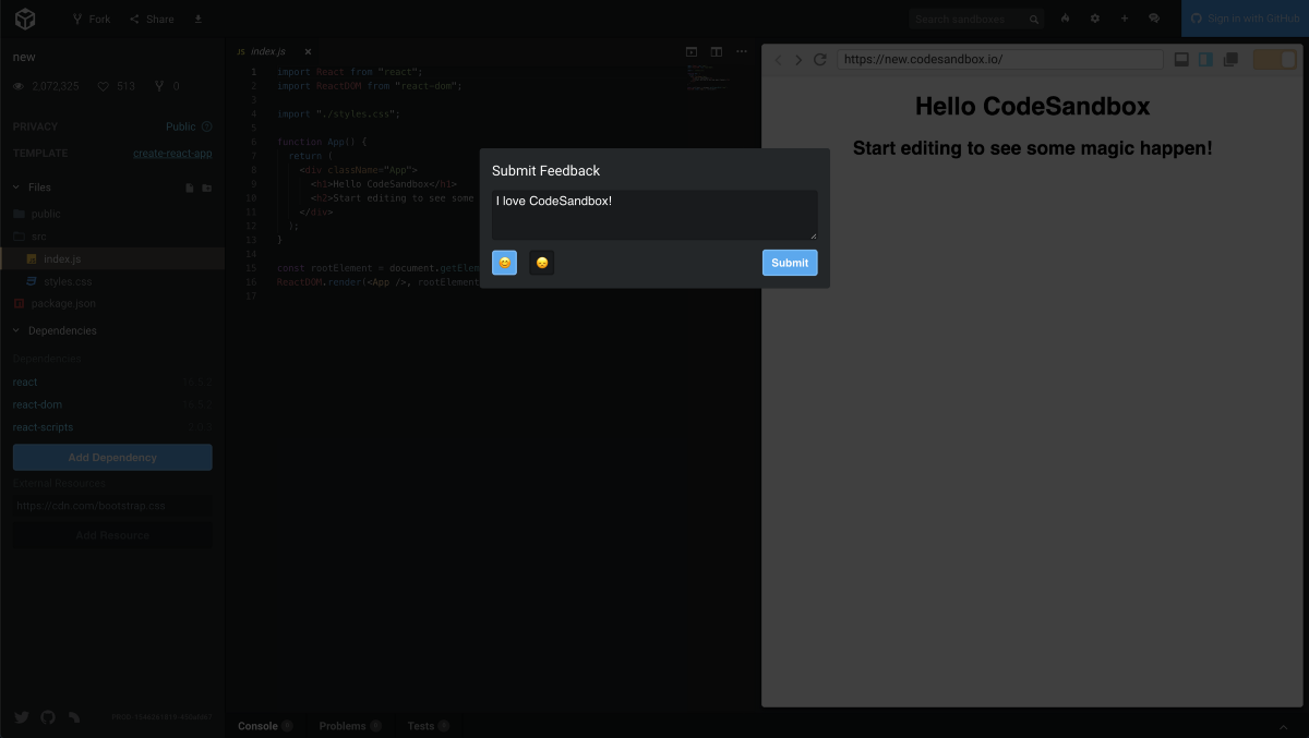 Lessons from CodeSandbox: Send User Feedback to Airtable