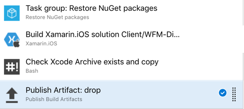 Publishing an XCode Archive in Azure Dev Ops With Xamarin