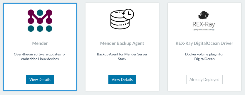 Deploy Mender on DigitalOcean using Rancher Container