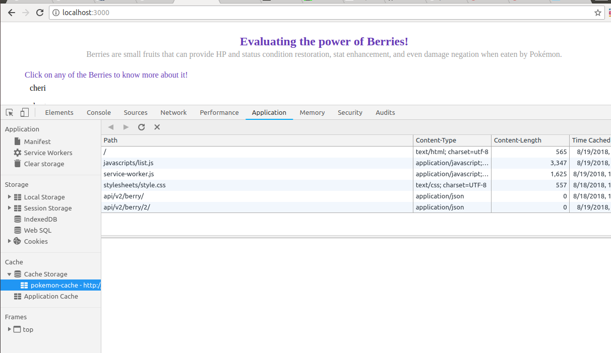 Building Pokemon App to evaluate the power of Berries & Service
