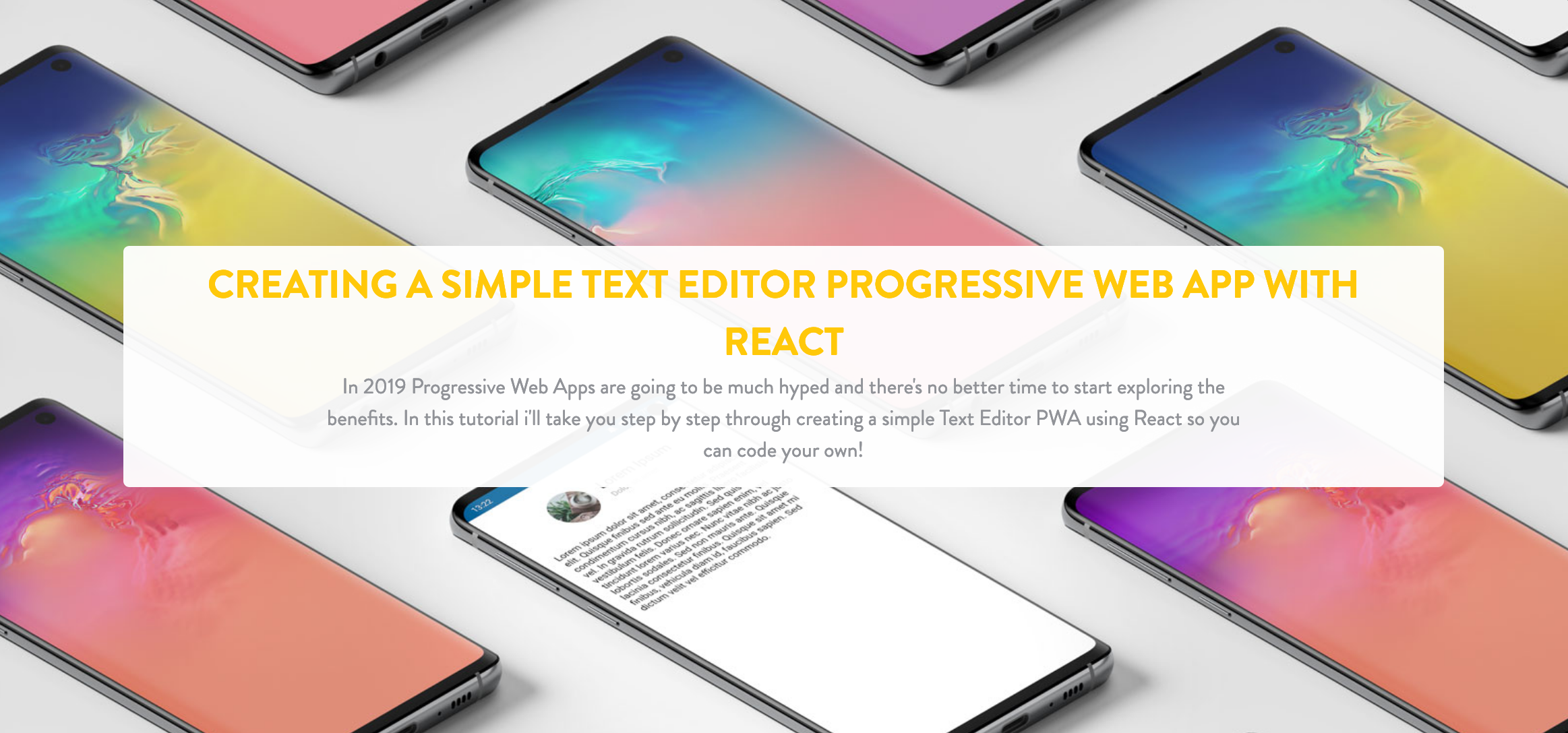 Creating a Simple Text Editor Progressive Web App with React