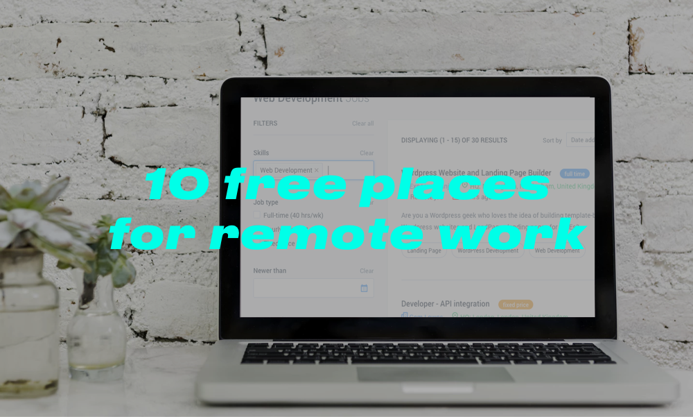 10 free places to find your next remote web development