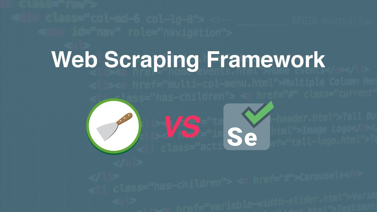 Scrapy or Selenium? - By Low Wei Hong