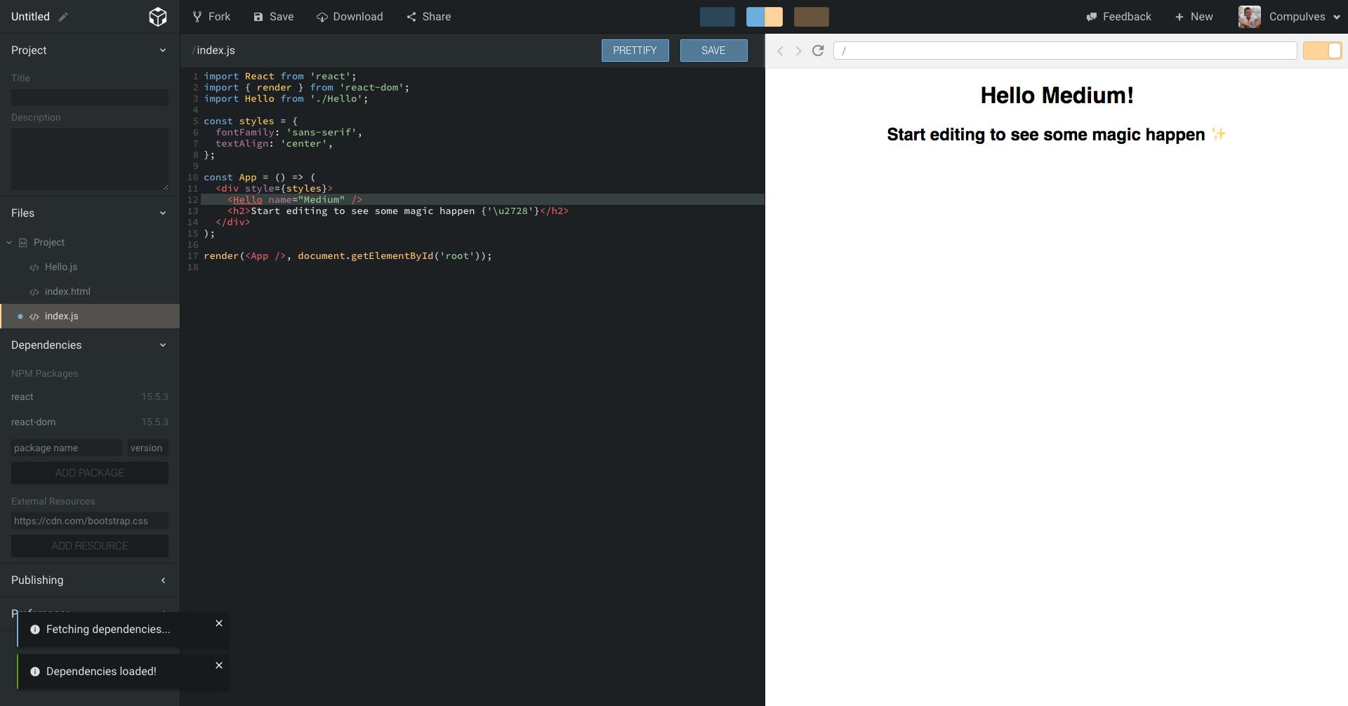 CodeSandbox — An online React editor 🏖 - By