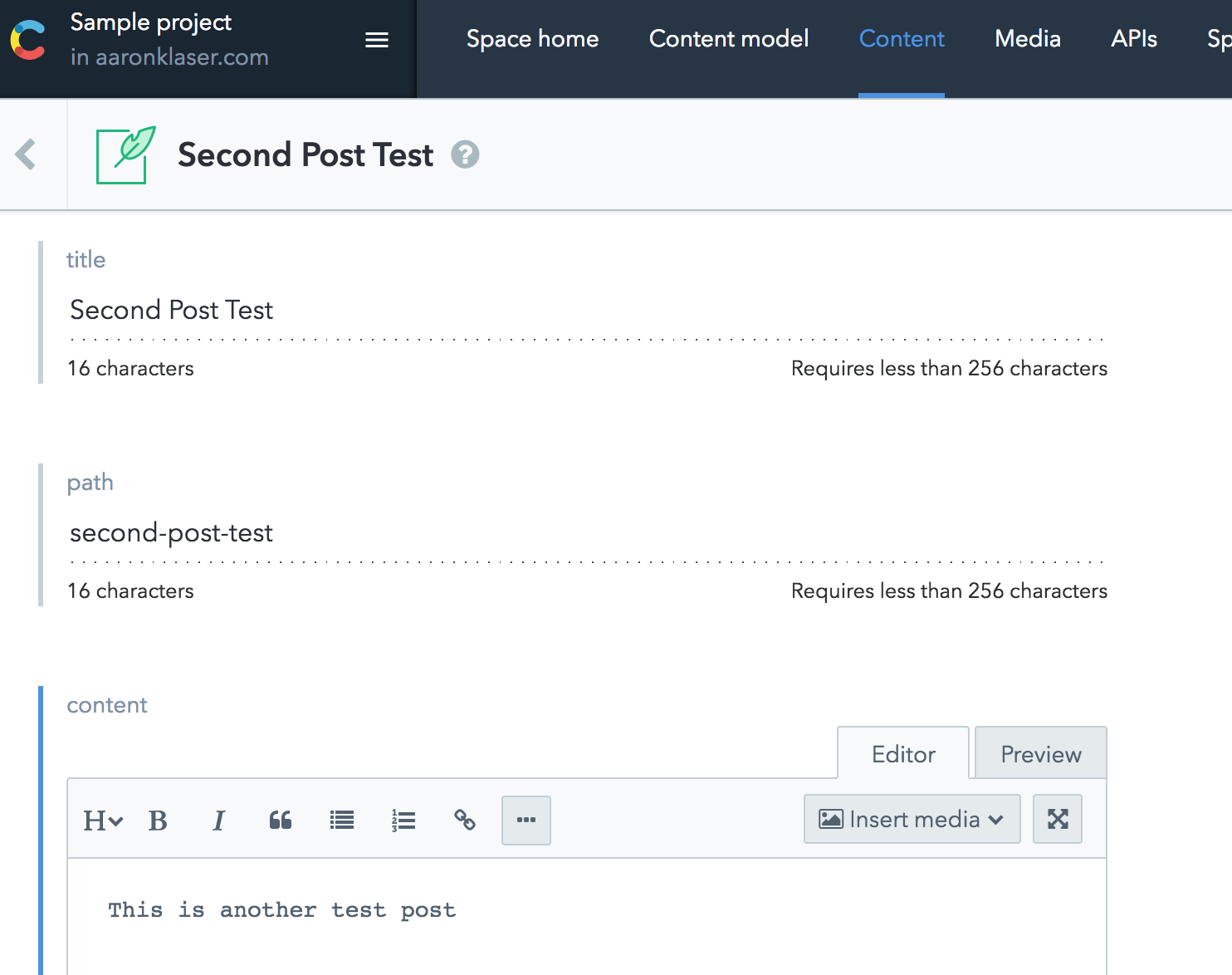 Building a Blog with React and Contentful - By