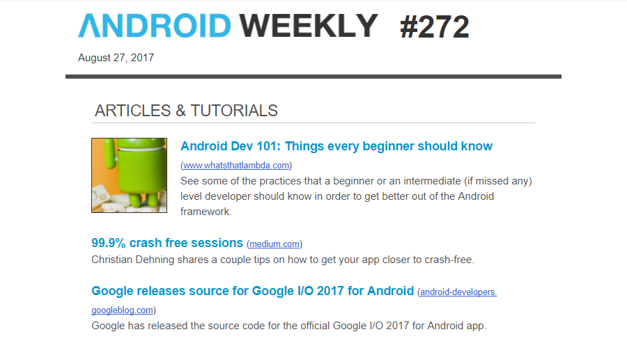 5 Newsletters Every Android Dev Should Subscribe To - By