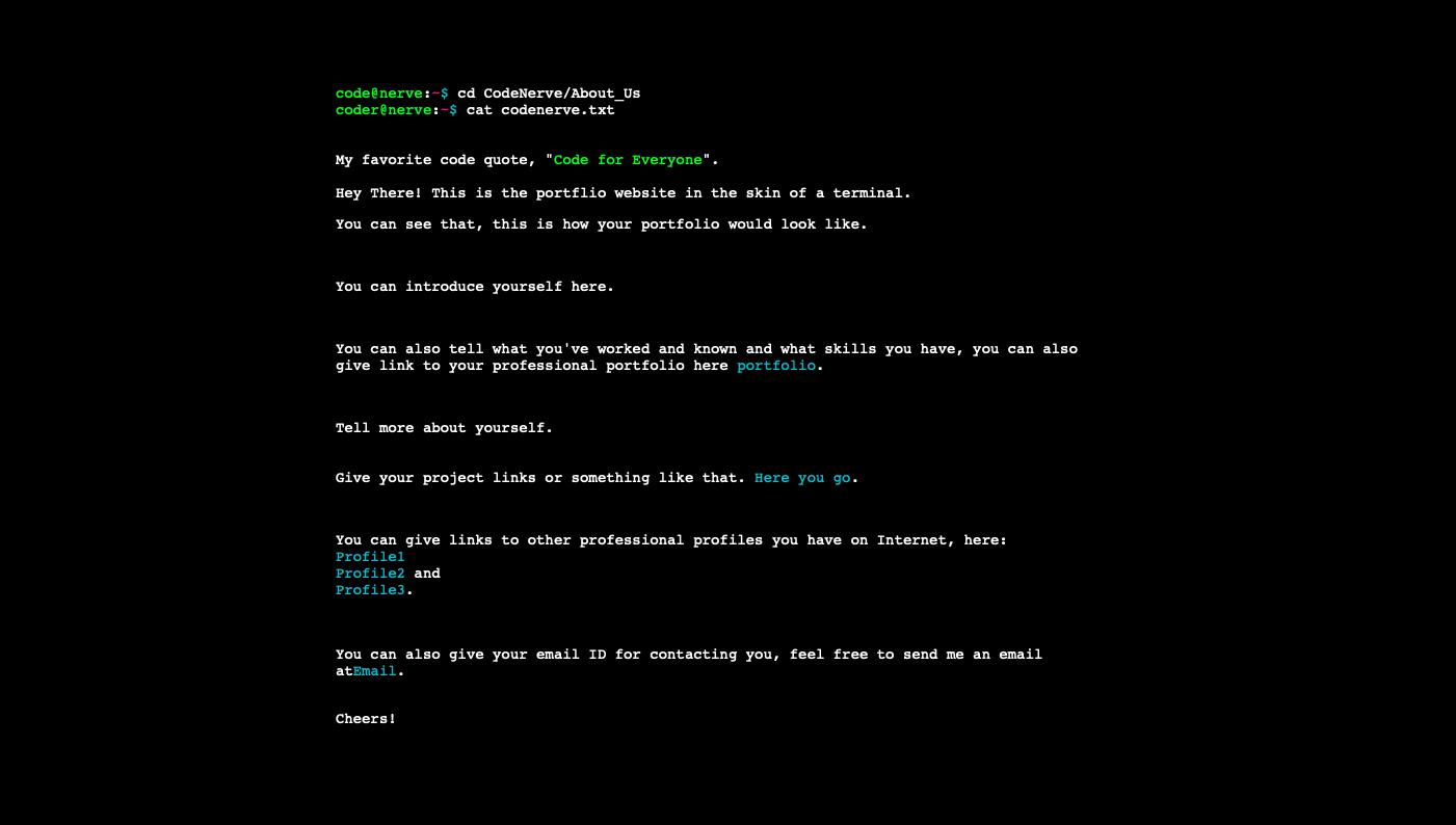 How To Make A Terminal Like Portfolio Website For Yourself