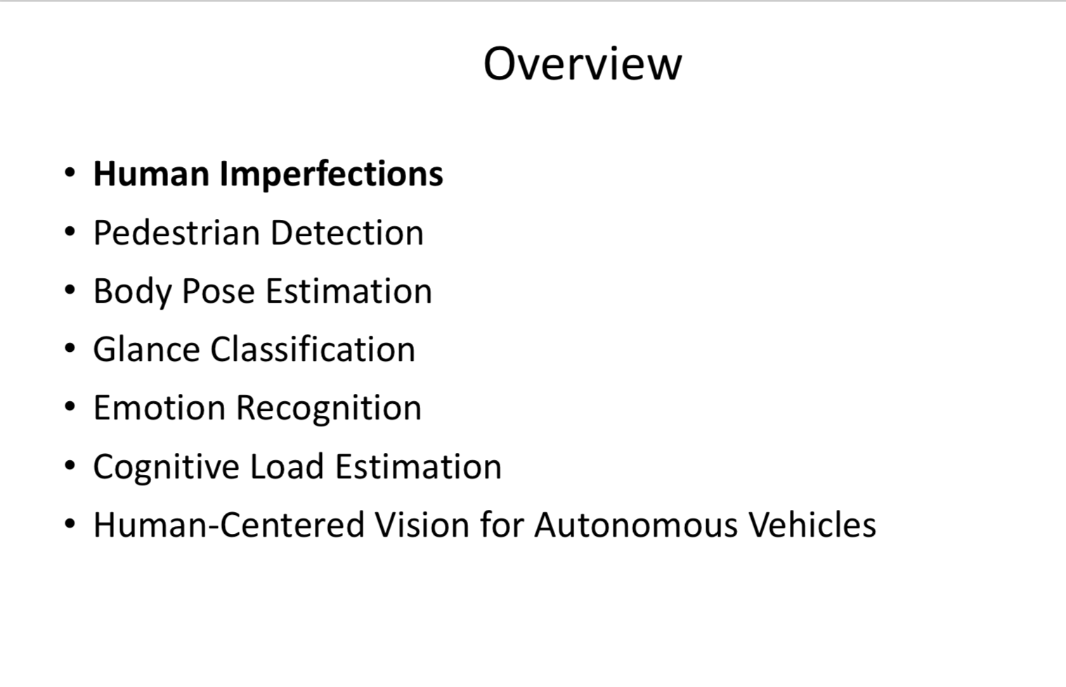 MIT 6 S094: Deep Learning for Self-Driving Cars 2018 Lecture 5 Notes