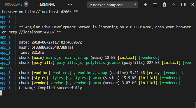Using Docker, Docker Compose, Angular-CLI 6+, Sass, and Pug