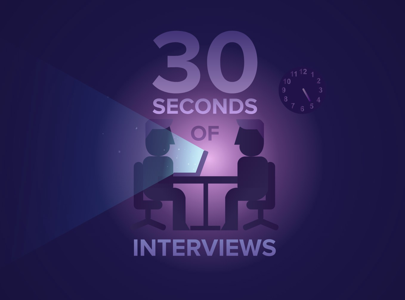 Prepare for you next interview with 30 seconds of interviews