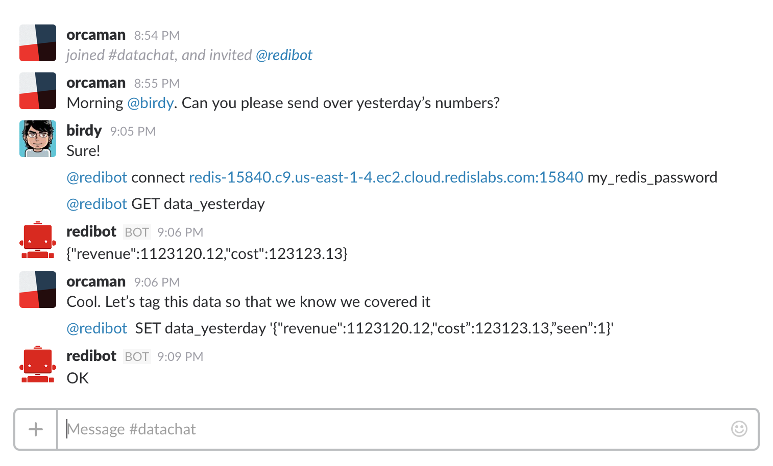 redibot: Bring redis into the Conversation! - By