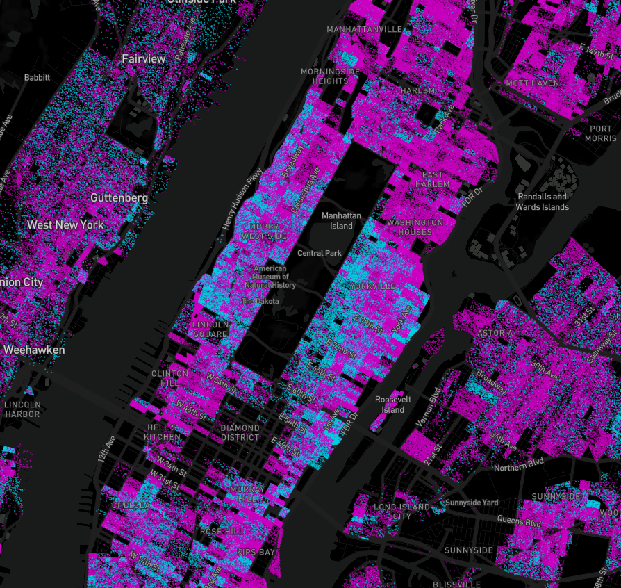 Renters and Owners — Visualizing every person in the US  - By