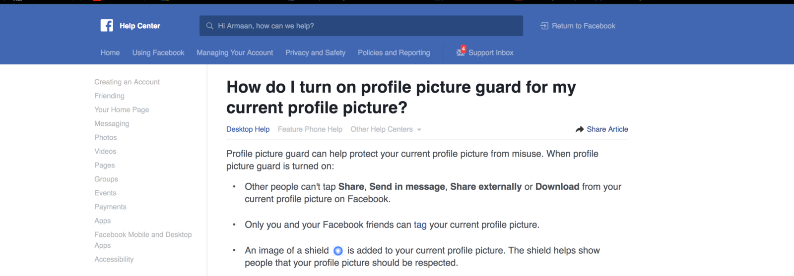 Bypassing Facebook Profile Picture Guard Security  - By