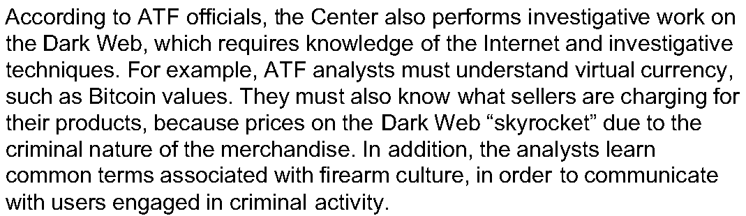 OSINT investigation based on GAO report about firearm sales in Dark