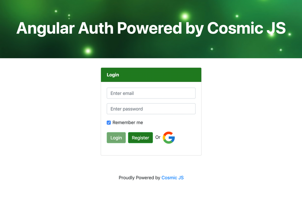 How to Build an Authentication App using Angular 6 and Cosmic JS