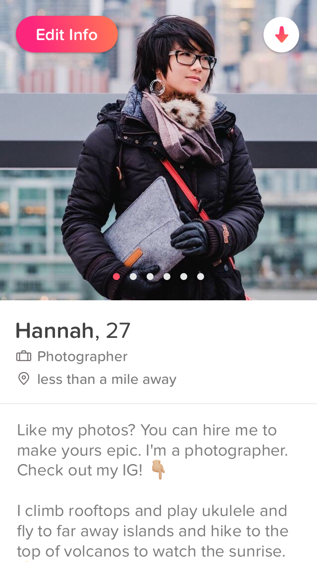 Swipe Right to Let Me Take Your Profile Photo - By