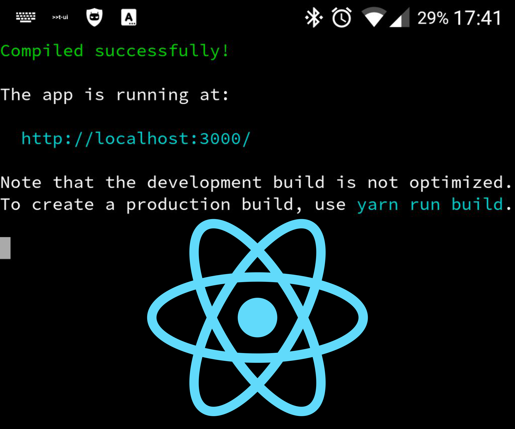 Code a React website on your Android smartphone or tablet