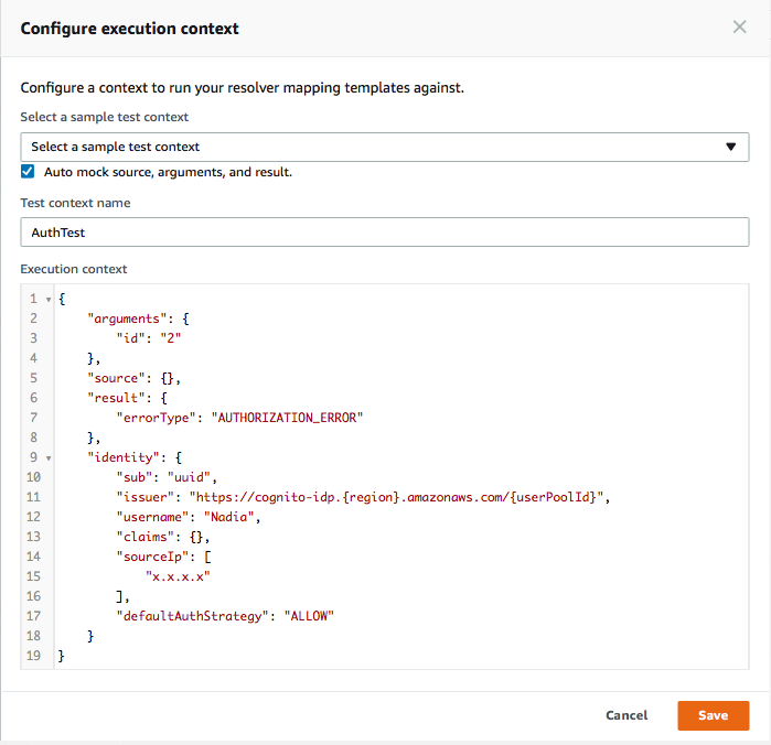 GraphQL authorization with multiple data sources using AWS