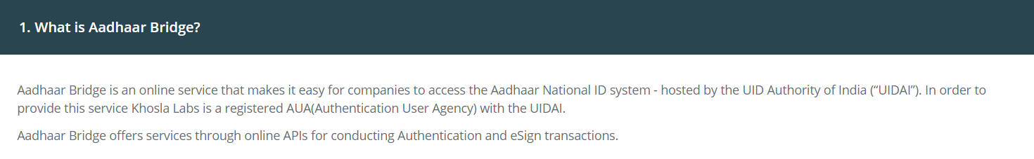 Loopholes in Aadhaar authentication API services - By