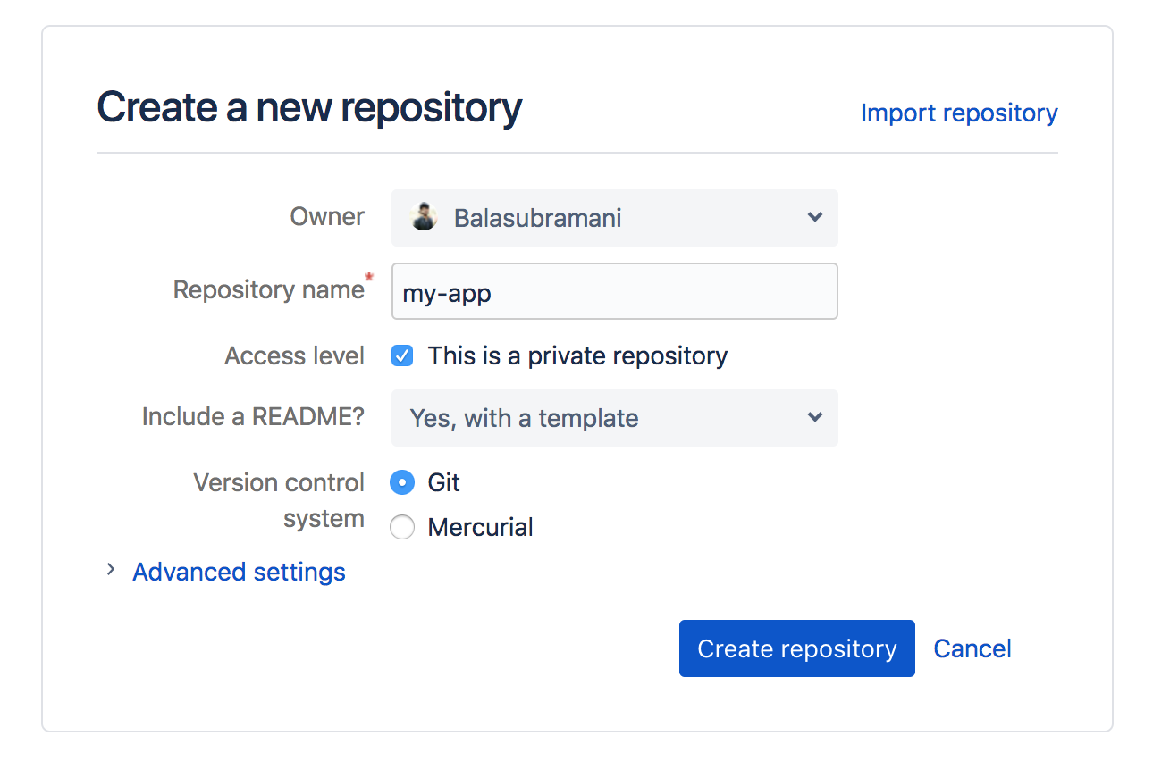 Deploy your Node js app in production and use BitBucket to