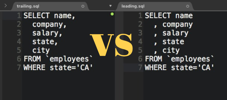 /winning-arguments-with-data-leading-with-commas-in-sql-672b3b81eac9 feature image
